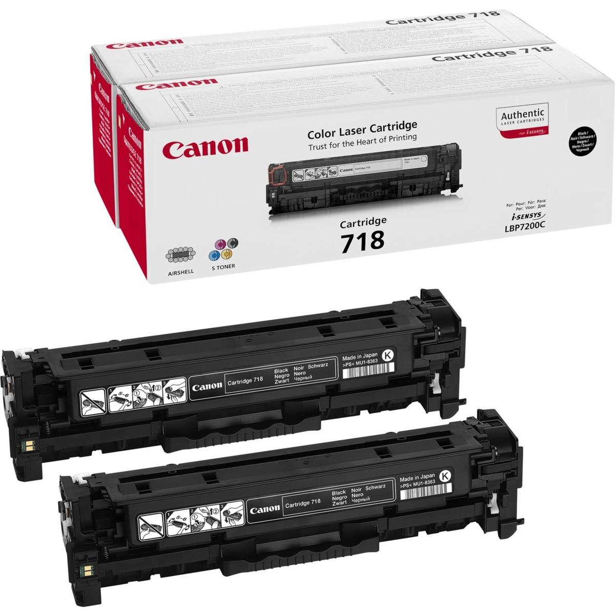 Canon 718, CRG-718, 2662B005, dvojbalenie - originálný (Čierny)