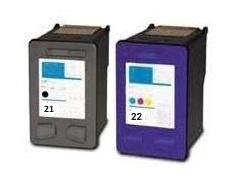 Tonery Náplně Cartridge HP 21 a HP 22, HP C9351A + HP C9352 (XL) kompatibilná kazeta