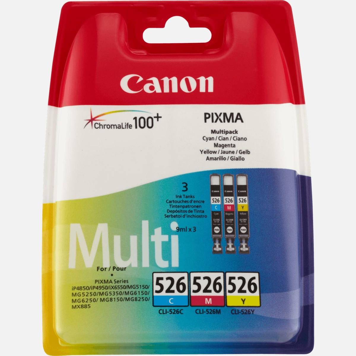 Canon CLI-526 Multi-Pack, 4541B009 (azúrová, purpurová a žltá) - originálný