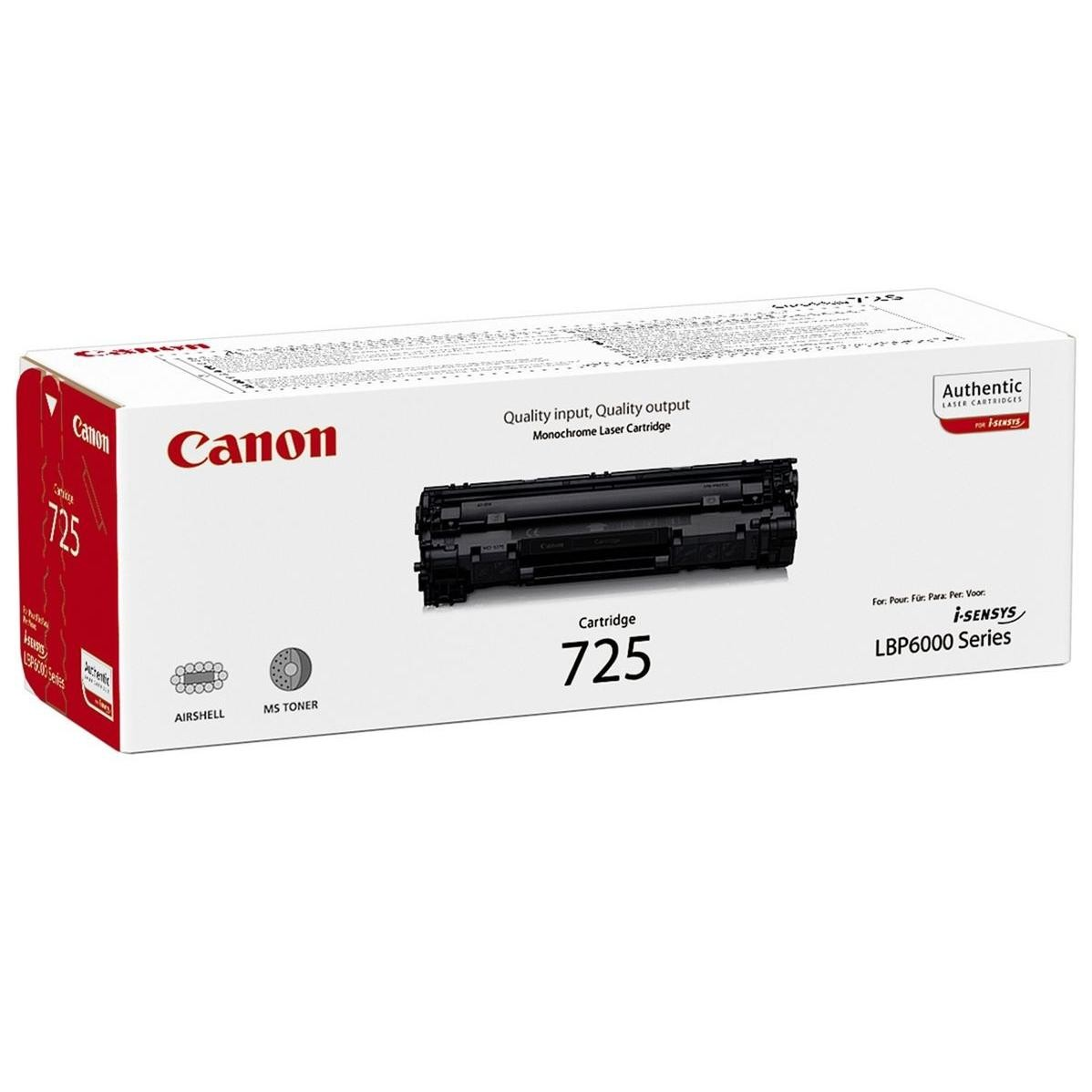 Toner Canon CRG-725Bk, 3484B002, originálny (Čierny)