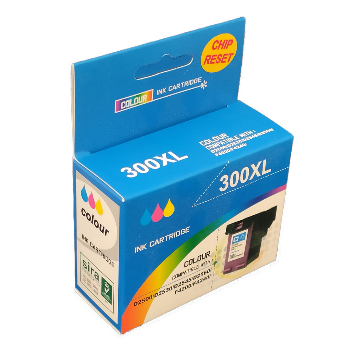 Tonery Náplně Cartridge HP 300XL, HP CC644 kompatibilná kazeta s čipom (Farebná)