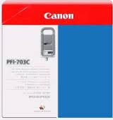 Zásobníky Canon PFI-703C, 2964B003, 3ks (Azúrové) - originálný