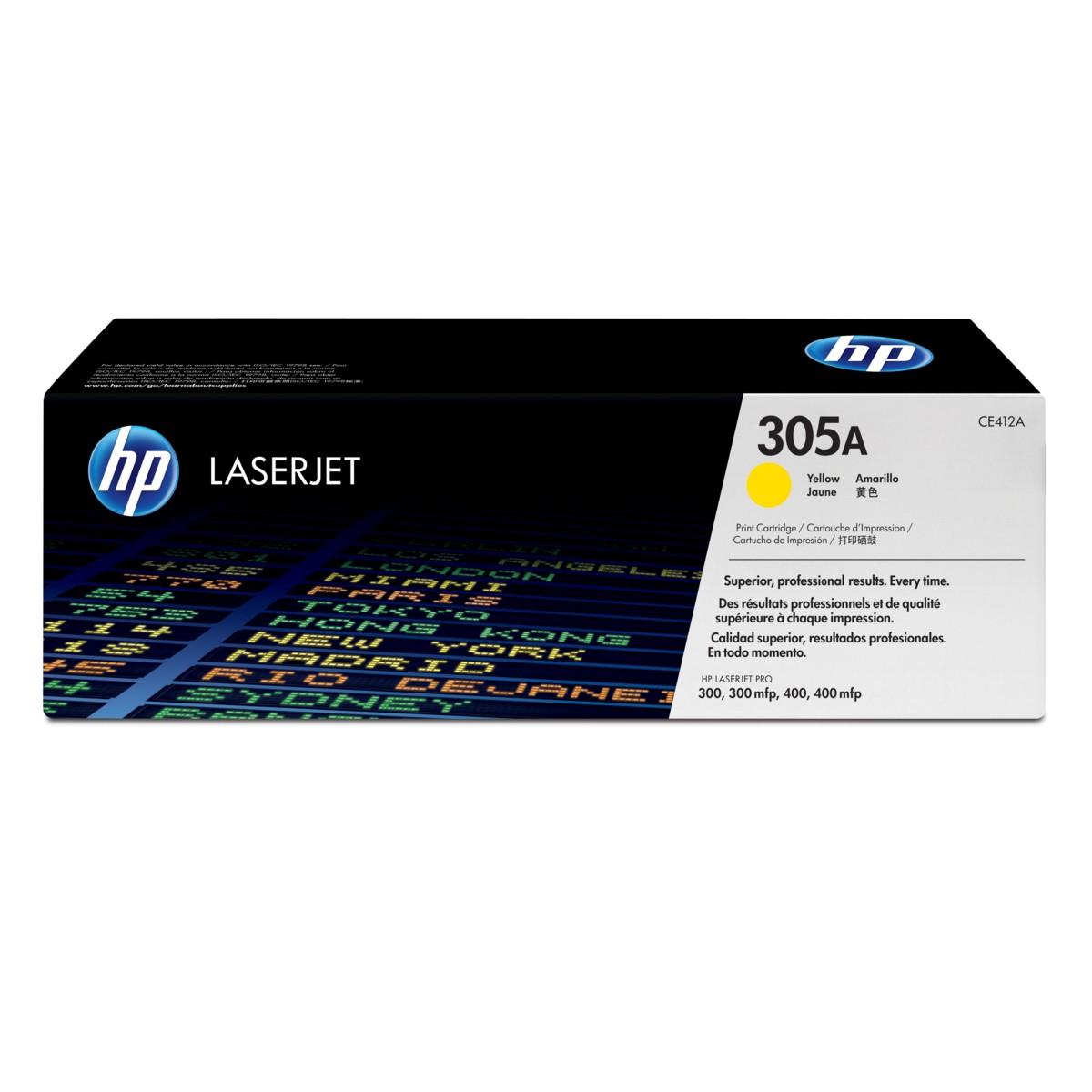 Toner HP 305A, HP CE412A - originálný (Žltý)