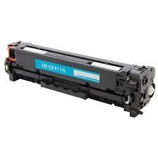 Tonery Náplně Toner HP 305A, HP CE411A, kompatibilná kazeta s čipom (Azúrová)