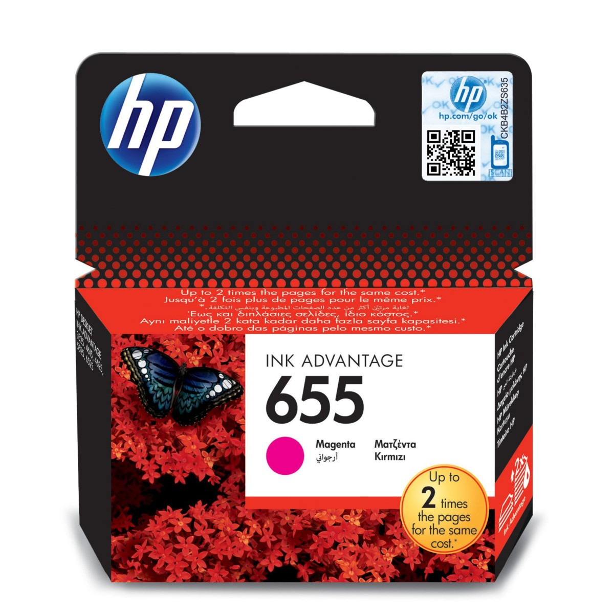 Cartridge HP 655, HP CZ111AE - originálný (Purpurová)