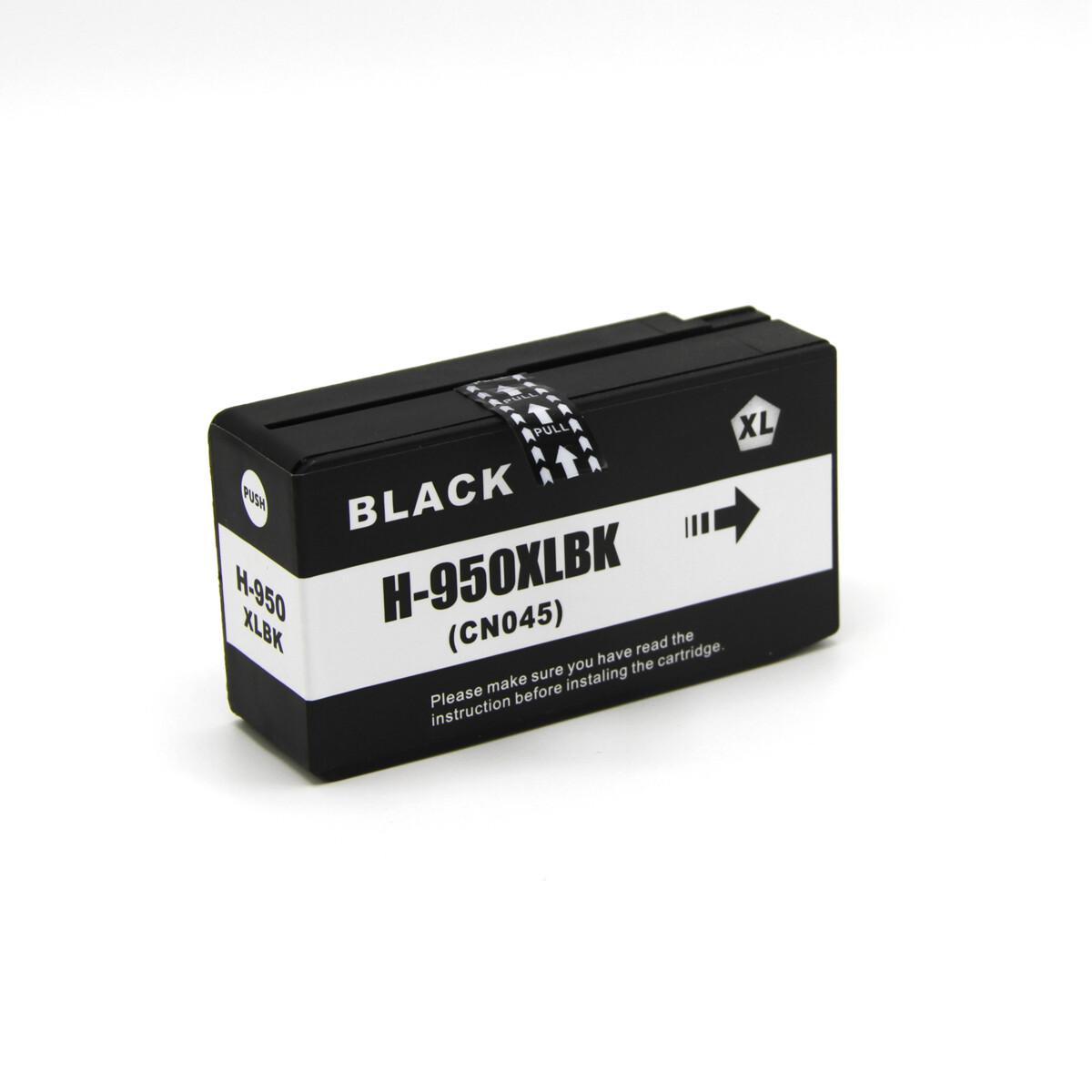 Tonery Náplně Cartridge HP 950XL, HP CN045A kompatibilná kazeta s čipom (Čierna)