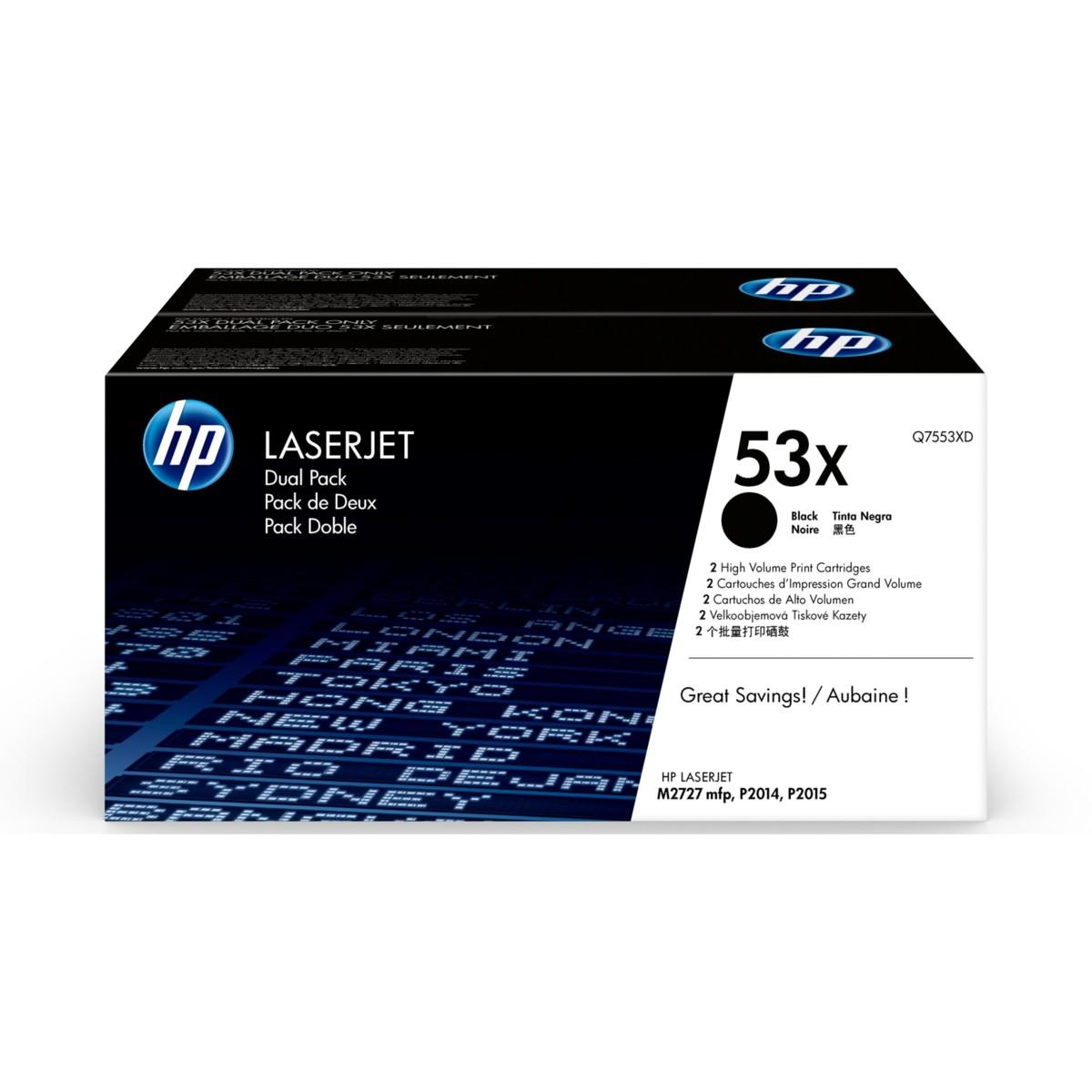HP 53X, HP Q7553XD DualPack - originálný (Black)