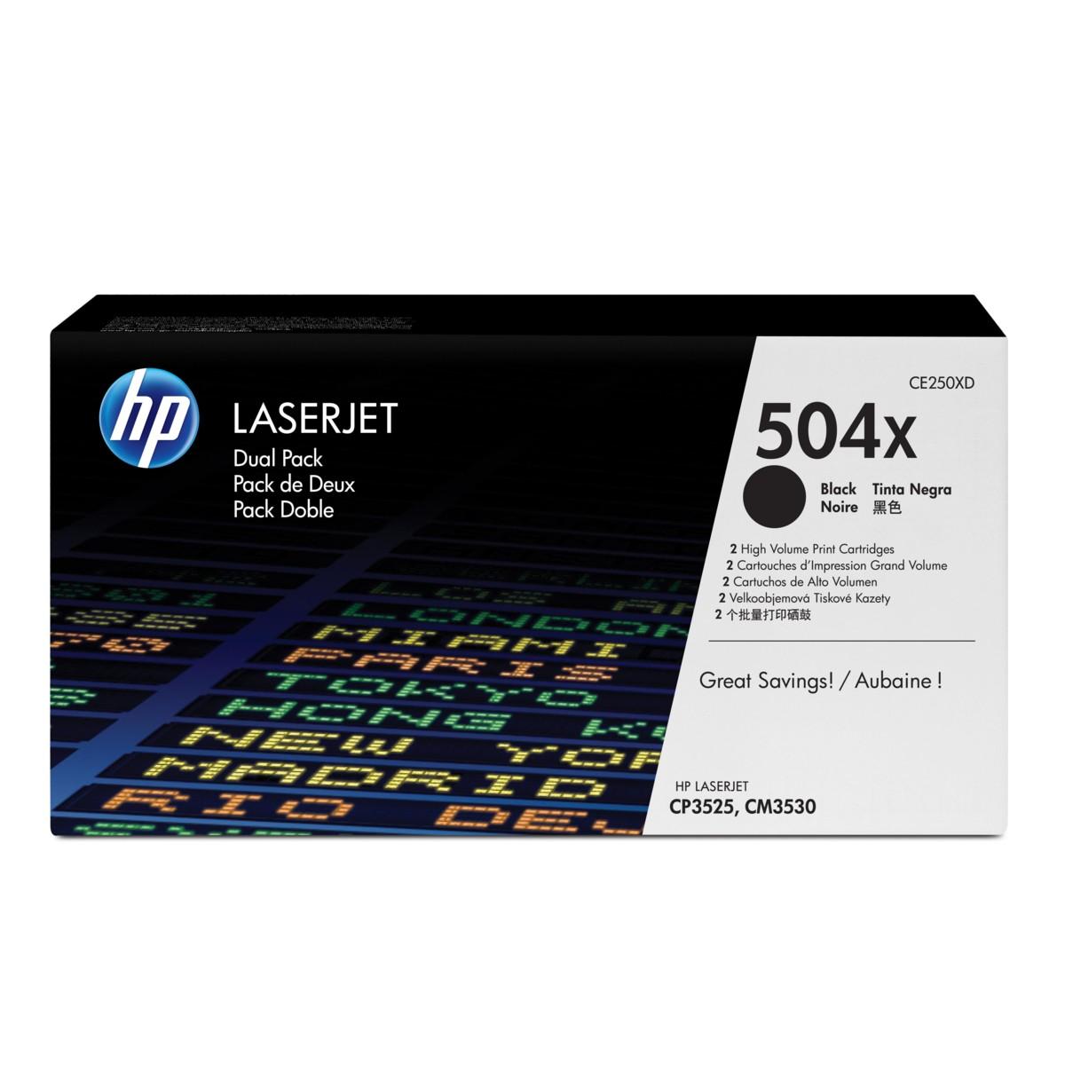 HP 504X, HP CE250XD originálny (Čierny)