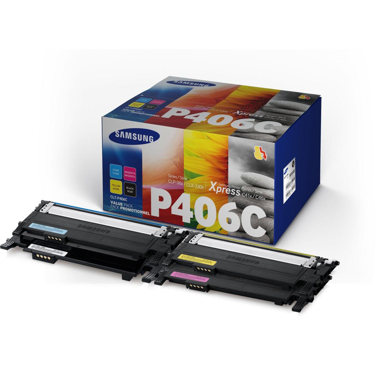 Toner Samsung CLT-P406C, HP SU375A - originálna sada tonerov (Multipack CMYK)
