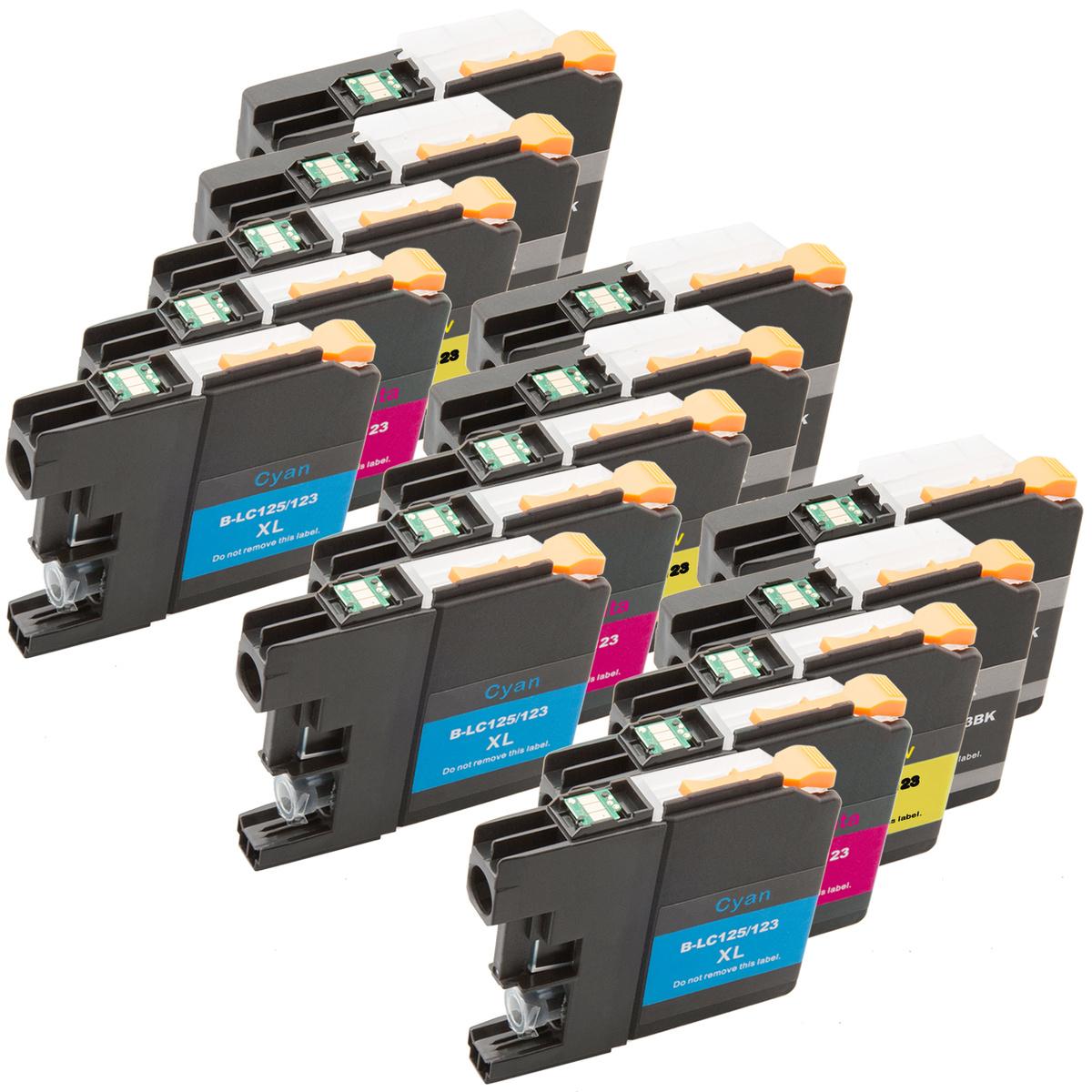 Tonery Náplně Tonery Náplně Cartridge Brother LC-123, LC-125 kompatibilný s čipom 15ml (Žltá) - Tonery a Náplně.cz