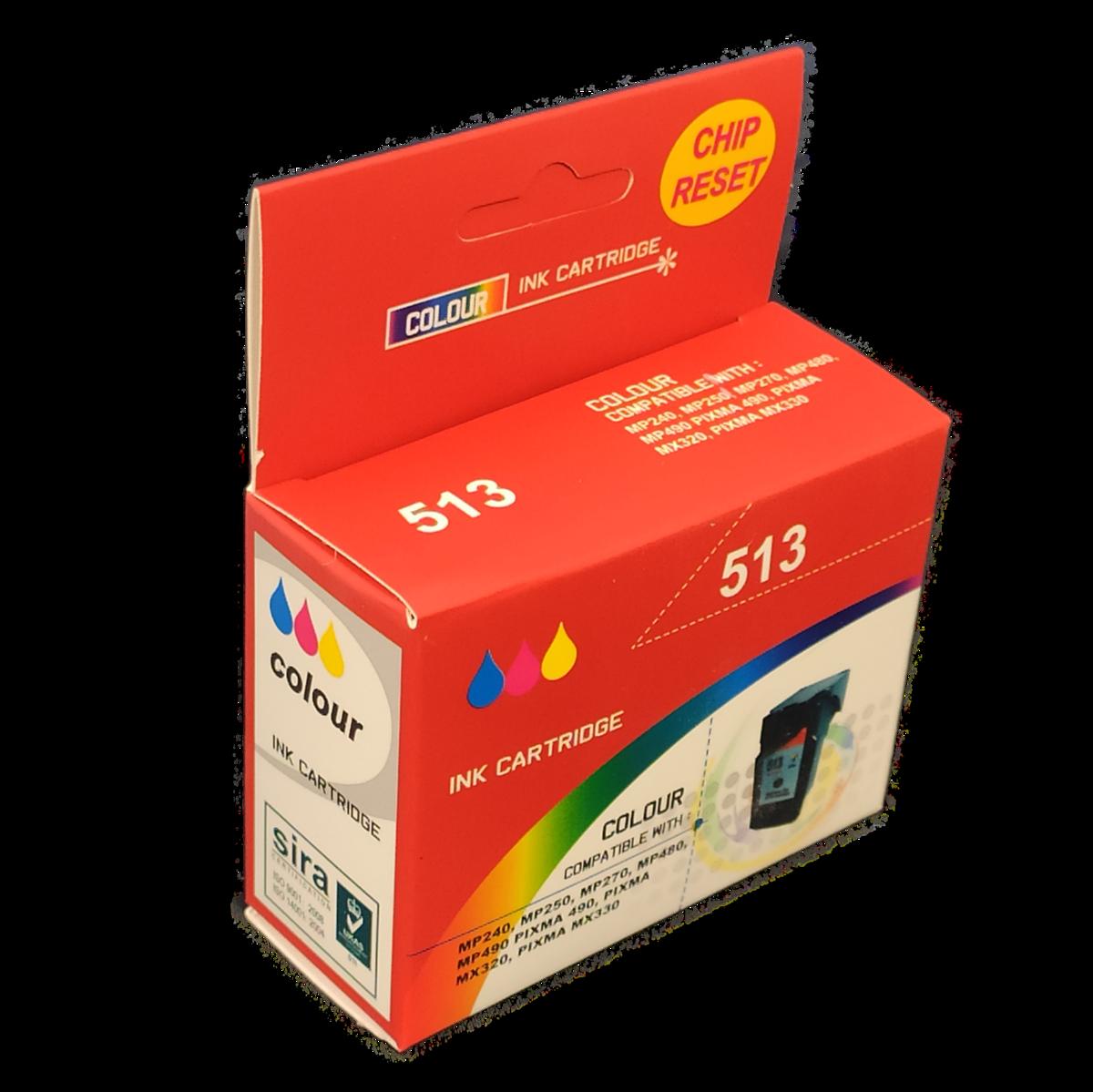Tonery Náplně Cartridge Canon CL-513 (XL) s čipom kompatibilná kazeta (Farebná)