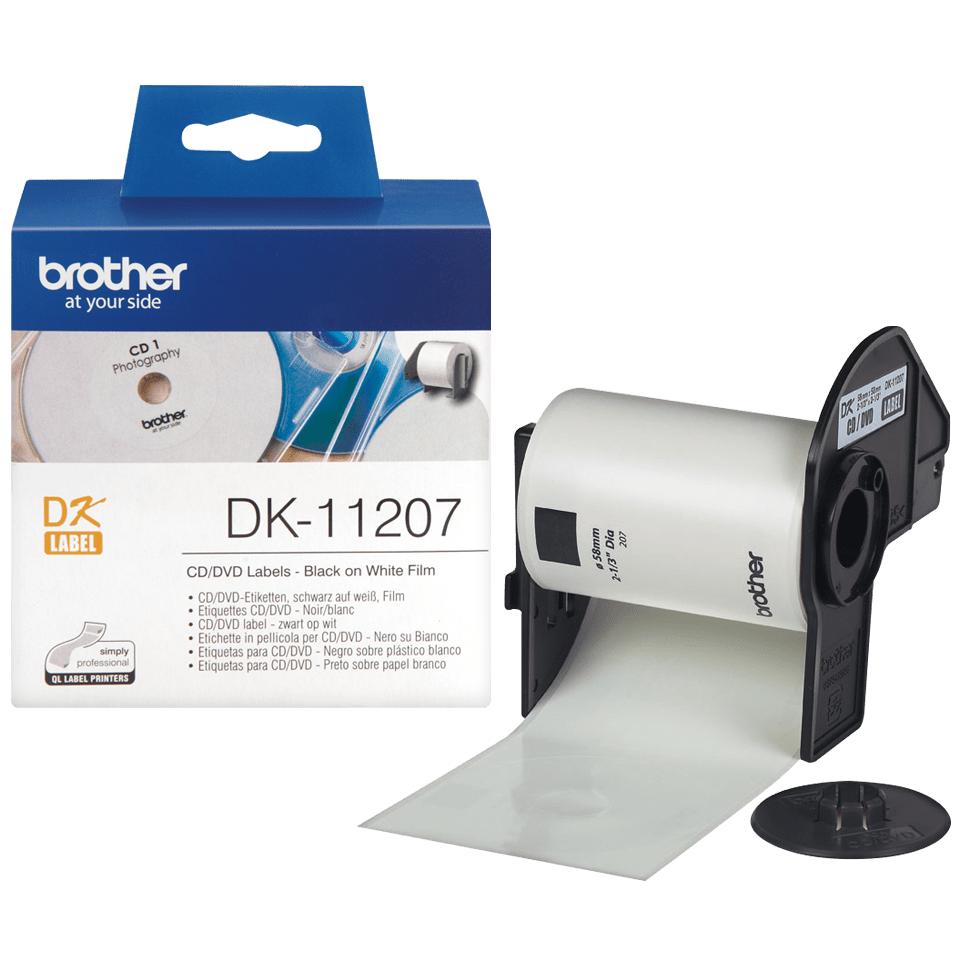 Brother DK-11207 'CD, DVD štítok' (58x58 mm, 100 ks)