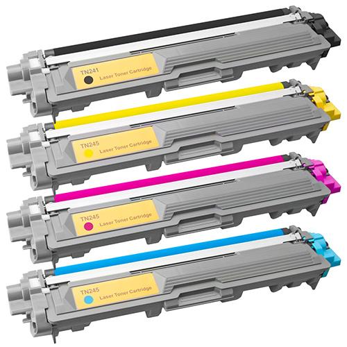 Tonery Náplně Toner Brother TN-245c, TN-241C, kompatibilný s čipom (azúrový)